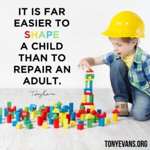 shaping children - image from tonyevans.org