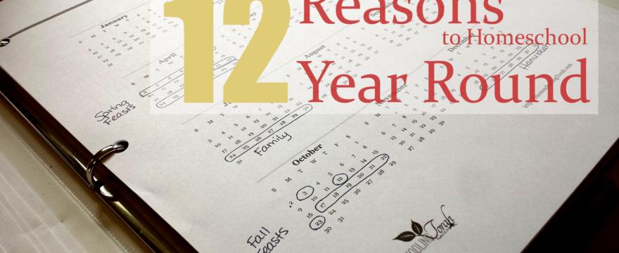 12 Reasons to Homeschool Year Round | Homeschooling Torah