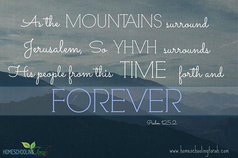 Psalm 125:2 | Homeschooling Torah