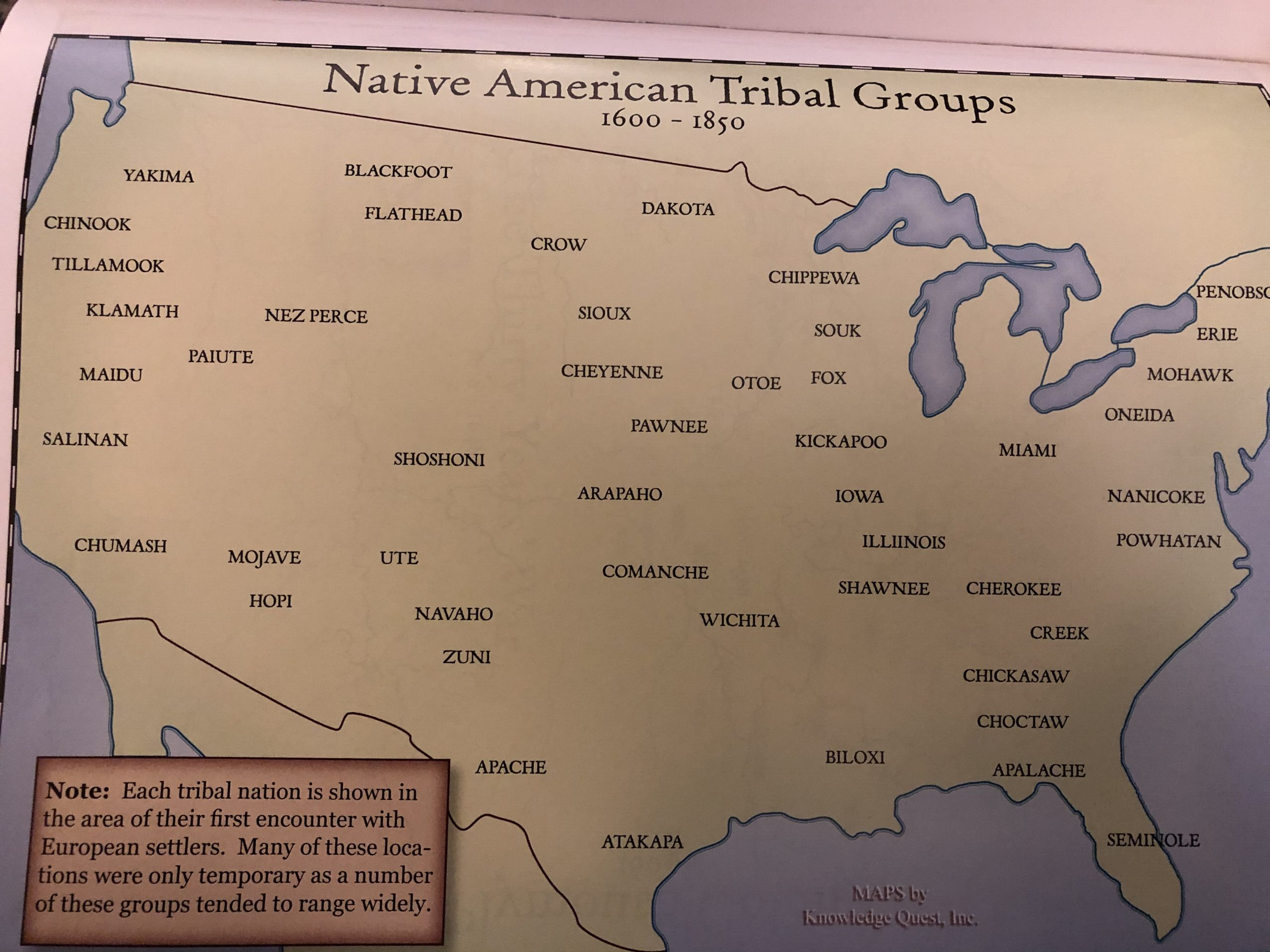 Map - North American Tribal Groups