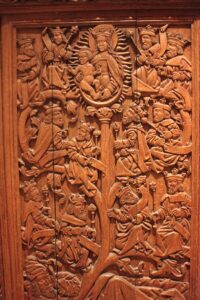An Oak Carving of the Tree of Jesse from St. Andrews Castle