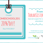 2017 Homeschool Family Conference Goodie Bag