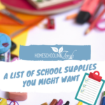 A List of School Supplies You Might Want