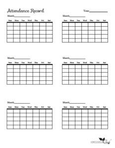 Attendance Calendars