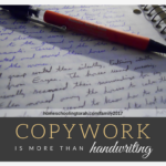 copywork is more than handwriting | HomeschoolingTorah