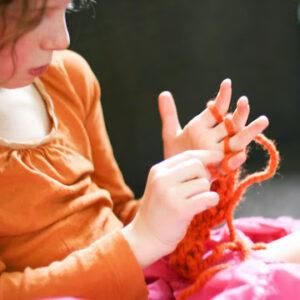 finger knitting