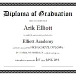 Sample High School Diploma