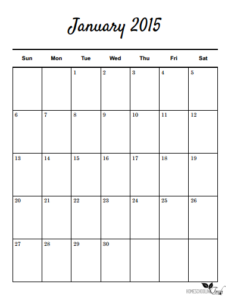 One month per page Calendar