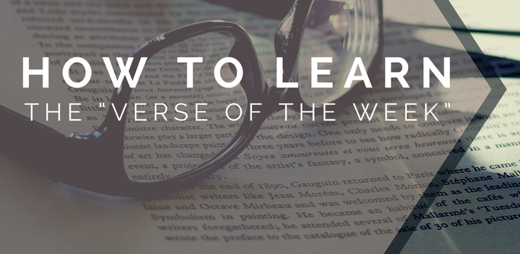 """How to Learn the """"Verse of the Week"""""""