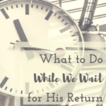 What to Do While We Wait for His Return