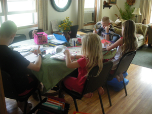 How to Survive Clutter in a One-Room Homeschool