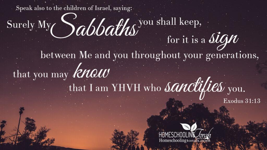 My Sabbaths You Shall Keep | Homeschooling Torah